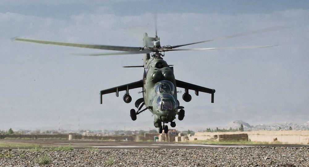 Un Mi-24 de la FFAA de Polonia en Afganistán