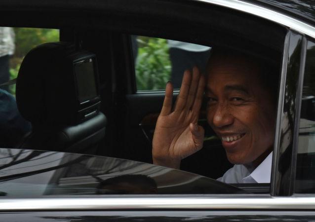 El candidato a la presidencia en Indonesia, Joko Widodo