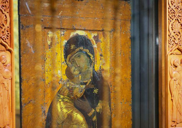 El icono de la Virgen María de Vladímir