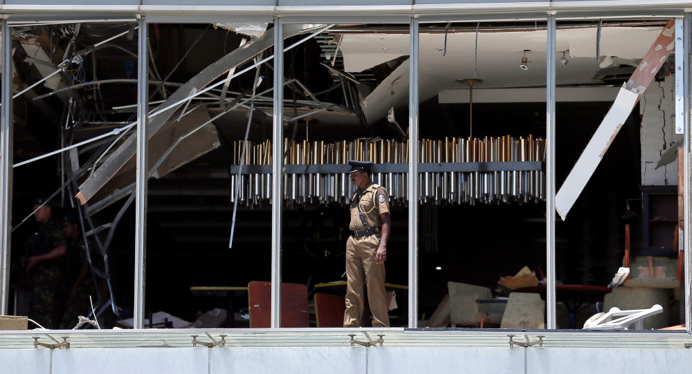 Lugar de la explosión en el hotel Shangri-La in Colombo, Sri Lanka