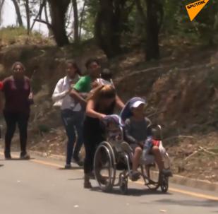 Detienen con brutalidad a cientos de migrantes en México