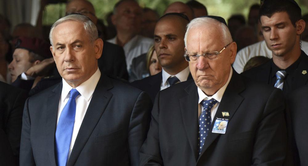 Primer ministro de Israel, Benjamín Netanyahu, y presidente de Israel, Reuven Rivlin (archivo)