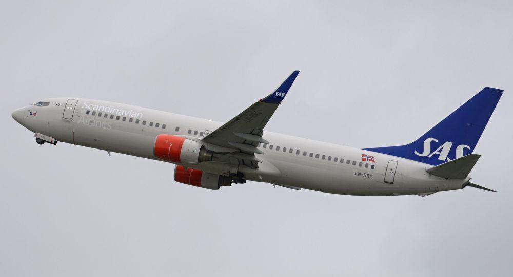 Un Boeing de Scandinavian Airlines Systems (SAS)