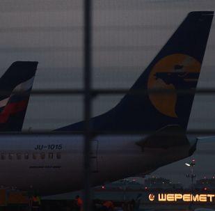 Aviones en el aeropuerto Sheremétievo de Moscú