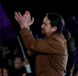 El líder de la coalición izquierdista Unidas Podemos (UP), Pablo Iglesias