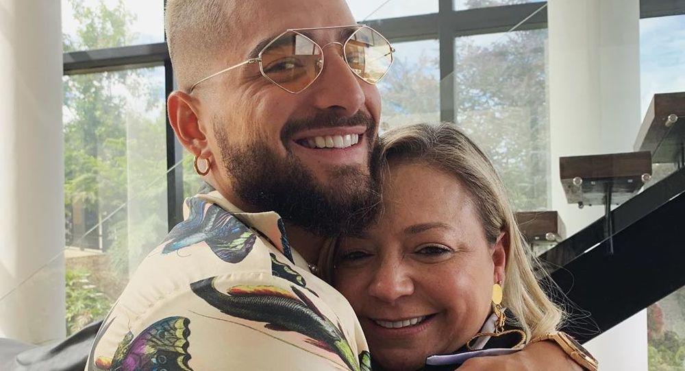 Maluma junto a su madre Marlli Arias