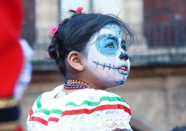 Una niña mexicana