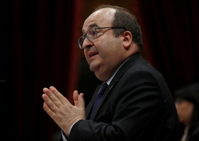 Miquel Iceta,  primer secretario del Partido de los Socialistas de Cataluña