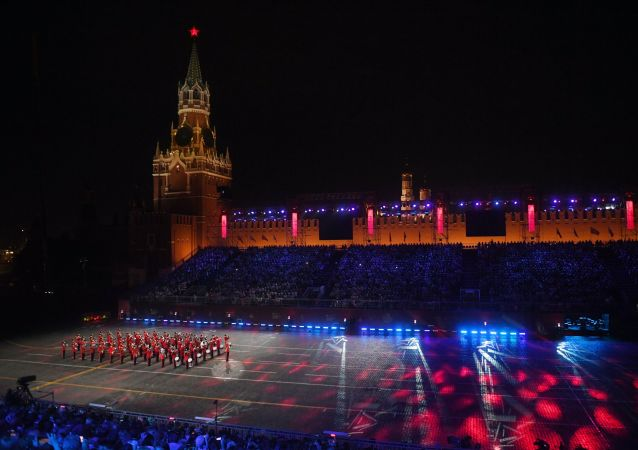 Festival de bandas militares Torre Spasskaya (archivo)