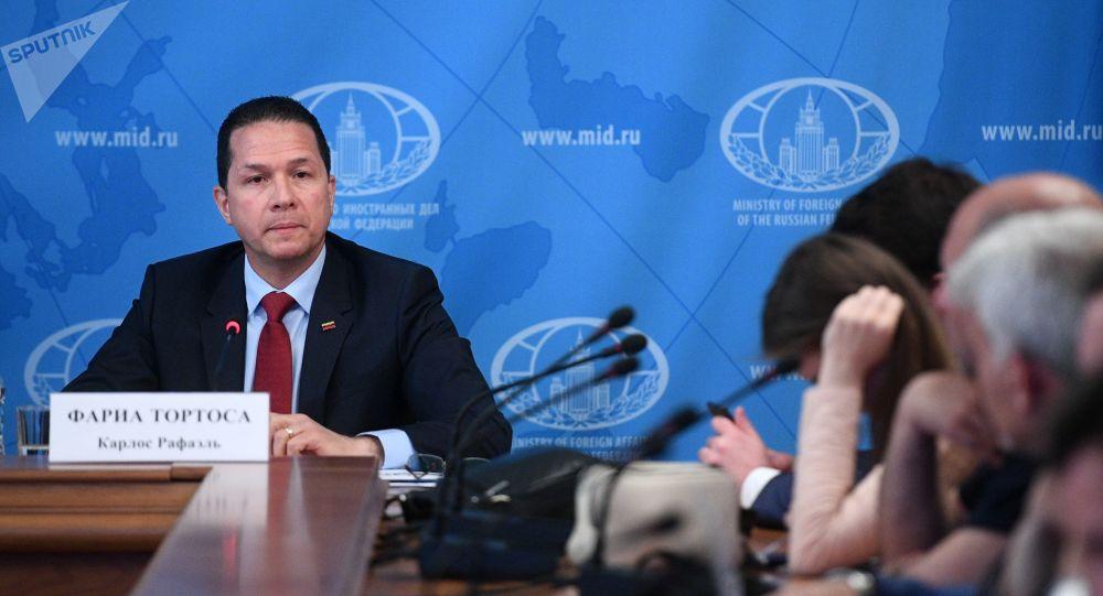 Carlos Rafael Faría Tortosa, embajador de Venezuela en Rusia