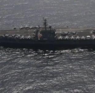 El portaviones de EEUU saca músculo en el golfo Pérsico en medio de tensiones con Irán