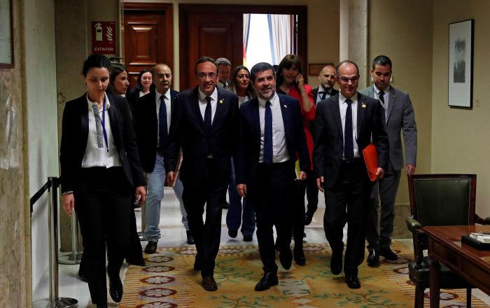 """Más de la mitad de españoles considera """"justo"""" el juicio a líderes independentistas catalanes"""