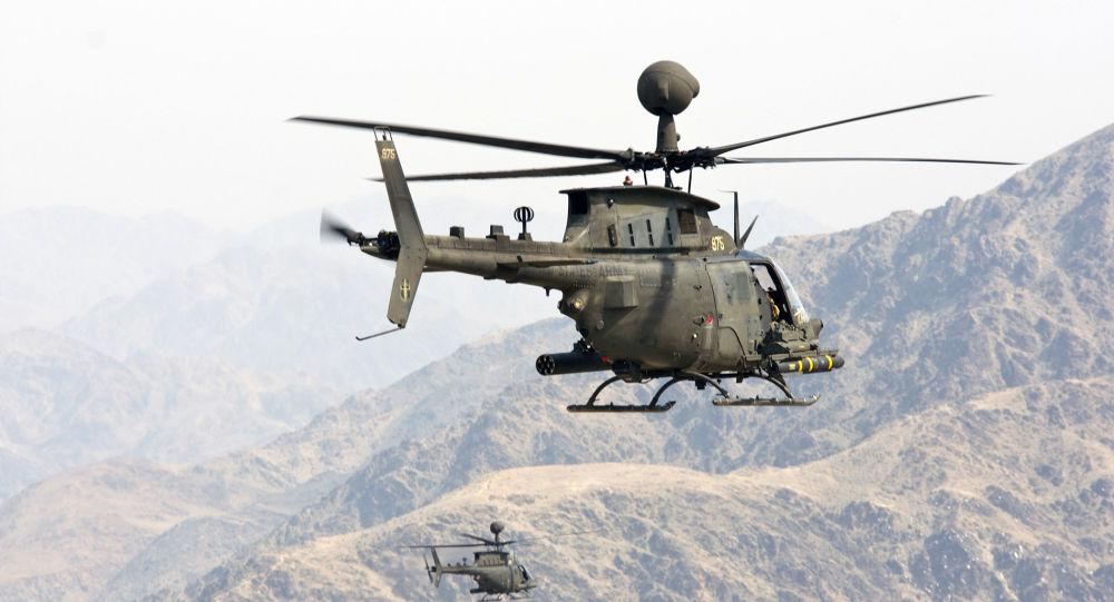 Un helicóptero OH-58 Kiowa