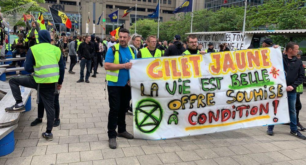 Las protestas de los 'chalecos amarillos' en Bruselas