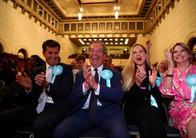 Nigel Farage, líder del Partido Brexit