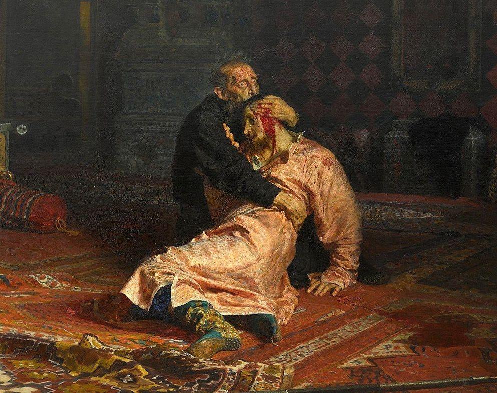 'Iván el Terrible y su hijo', por Iliá Repin