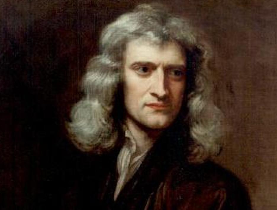 Isaac Newton por Godfrey Kneller