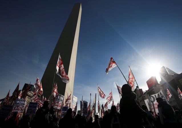 La huelga general en Buenos Aires