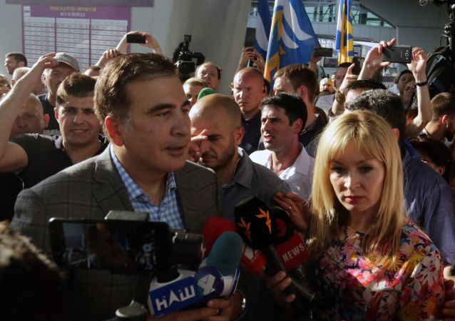 Expresidente georgiano Mijaíl Saakashvili llega a Ucrania