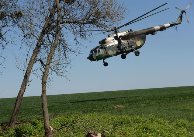 Un helicóptero Mi-8 de la Fuerza Aérea de Ucrania (archivo)