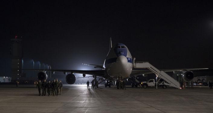 La aeronave estadounidense E-4B