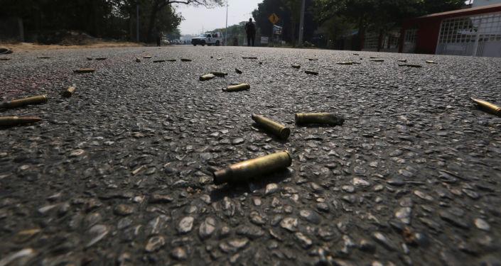 Unas balas en una carretera en México (imagen referencial)