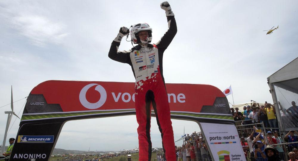 Ott Tanak, el piloto de Estonia ganador de la séptima etapa del Rally de Portugal