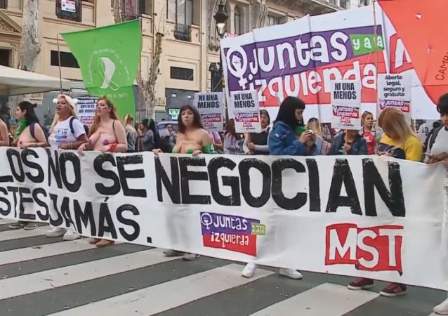 'Ni una menos': la multitudinaria manifestación feminista en Buenos Aires