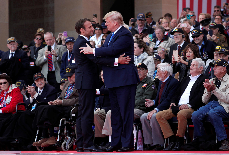El presidente francés, Emmanuel Macron, y el presidente de EEUU, Donald Trump