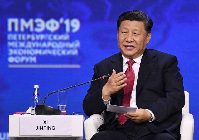 Xi Jinping, presidente de China en el Foro Económico Internacional de San Petersburgo
