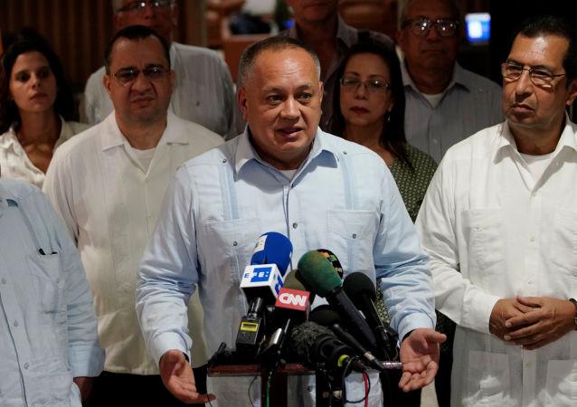 Diosdado Cabello, presidente de la Asamblea Nacional Constituyente (ANC) de Venezuela