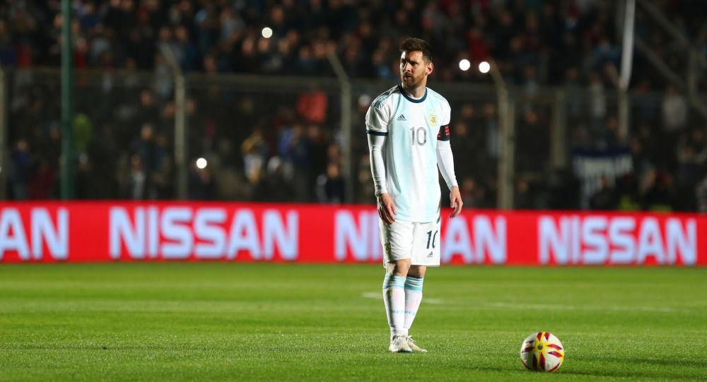 Lionel Messi durante un partido amistoso entre las selecciones de Argentina y Nicaragua