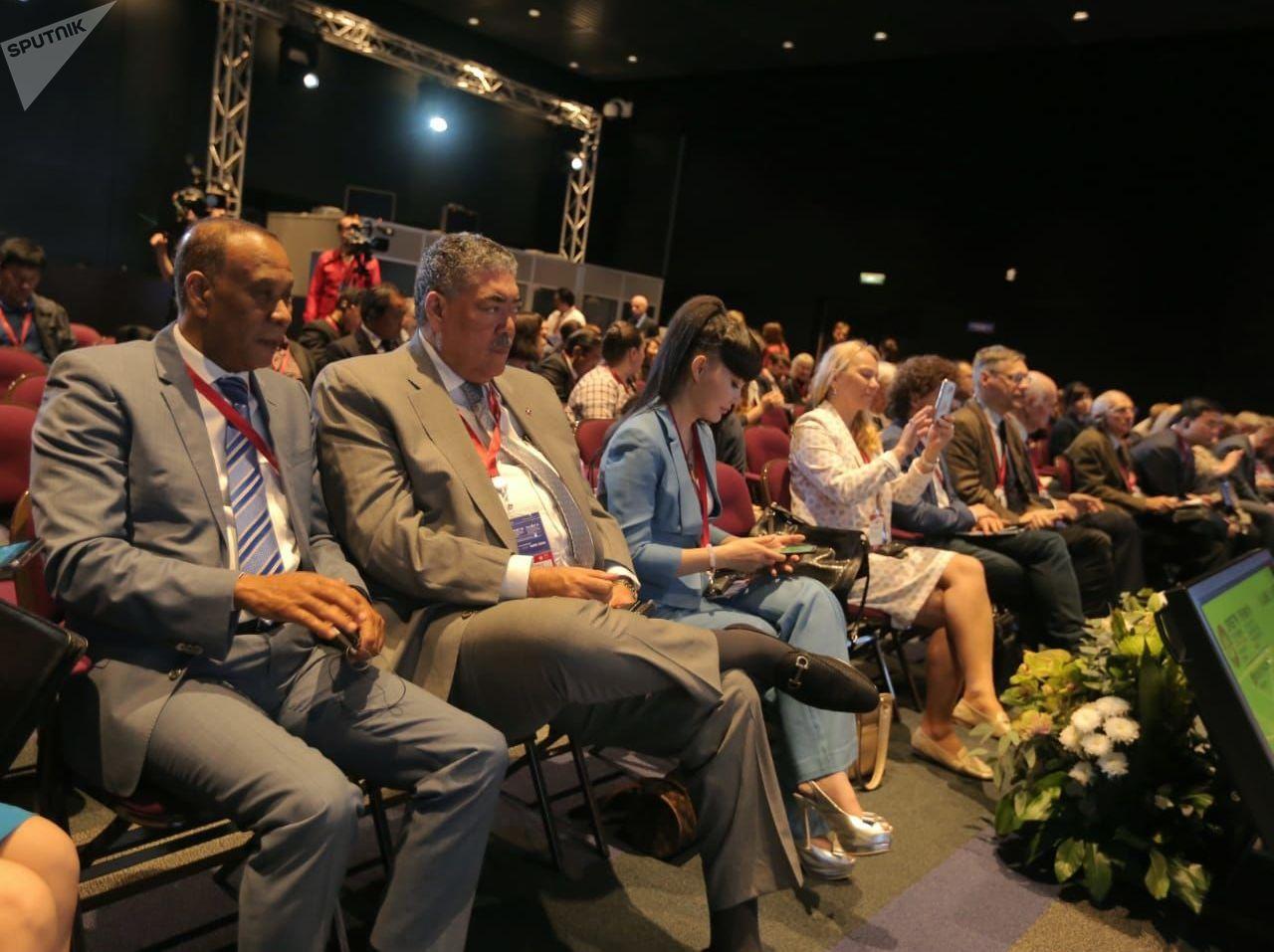Miguel Mejía, ministro para Políticas de Integración Regional de la República Dominicana, en el Foro SPIEF 2019