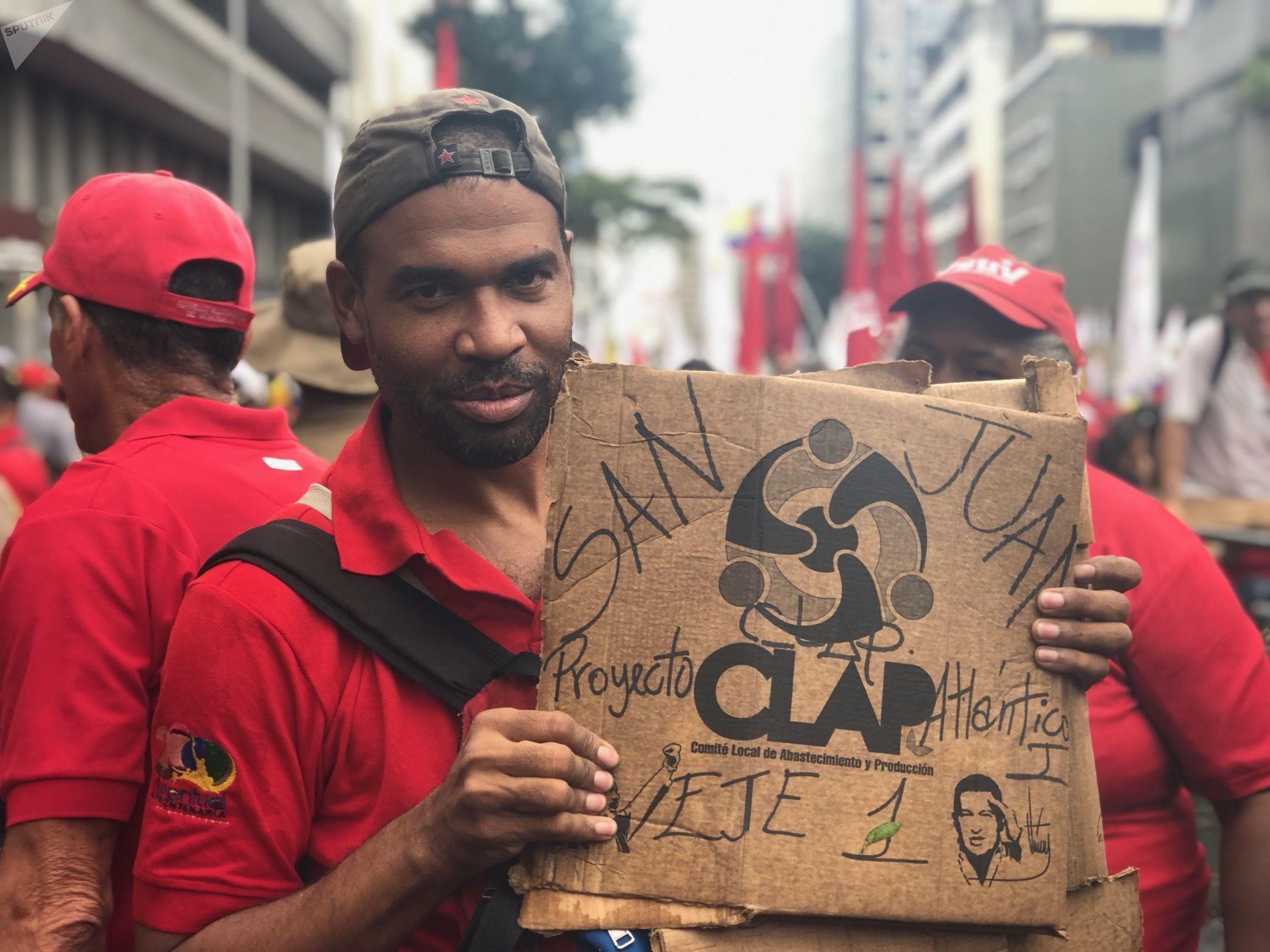 La marcha a favor de los CLAPs en Caracas, este 8 de junio