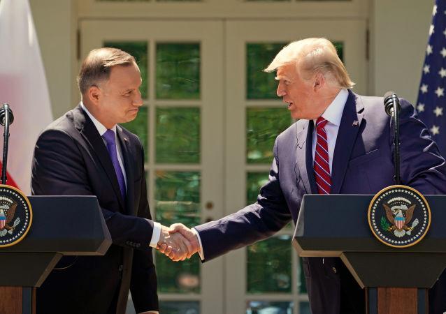 El presidente de Polonia, Andrzej Duda, y el presidente de EEUU, Donald Trump