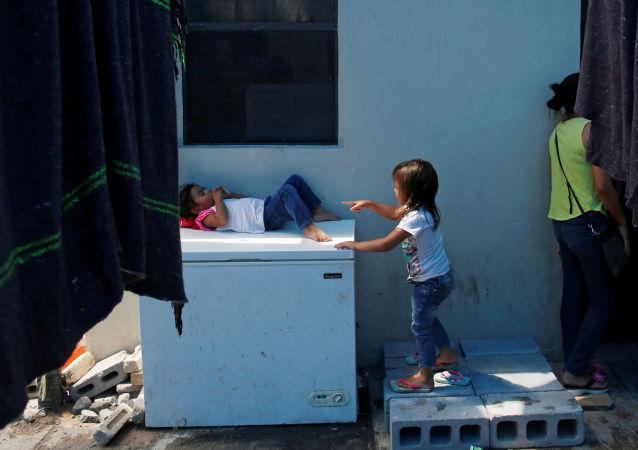 Niños migrantes en el norte de México