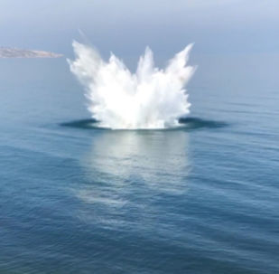 Cuatro minas de la II Guerra Mundial explotan en el fondo del mar Negro