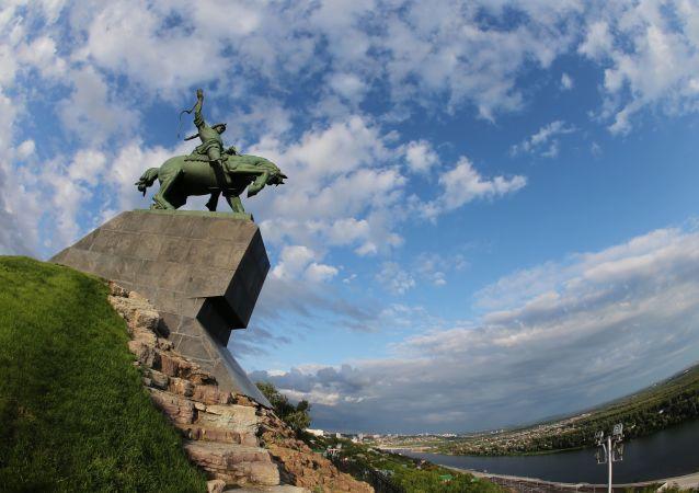 Monumento en la ciudad rusa de Ufá