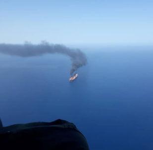 Barco petrolero atacado en el golfo de Omán