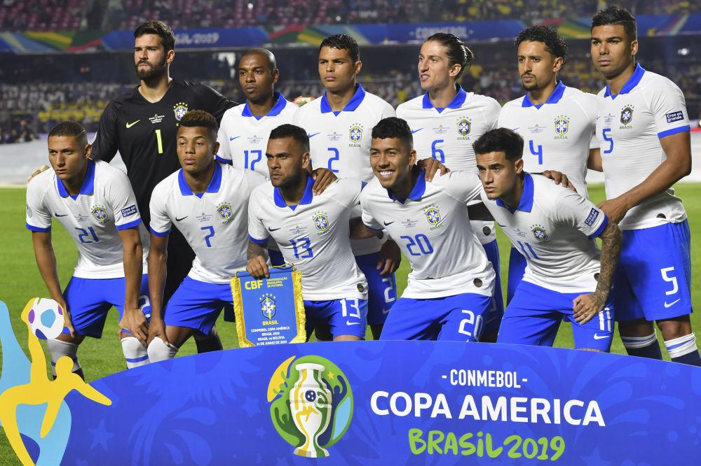 Jugadores de la selección de fútbol de Brasil