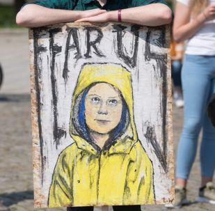 Retrato de Greta Thunberg, activista sueca