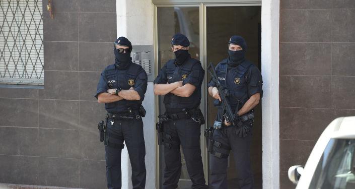 Agentes de Policía en Barcelona, foto de archivo