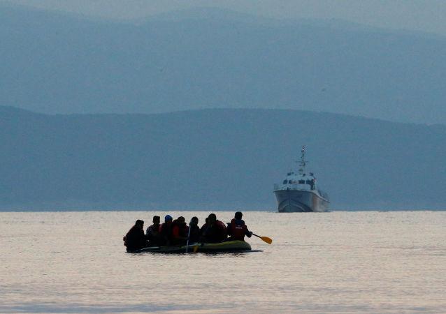 Migrantes en el mar Mediterráneo (фксршмщ(