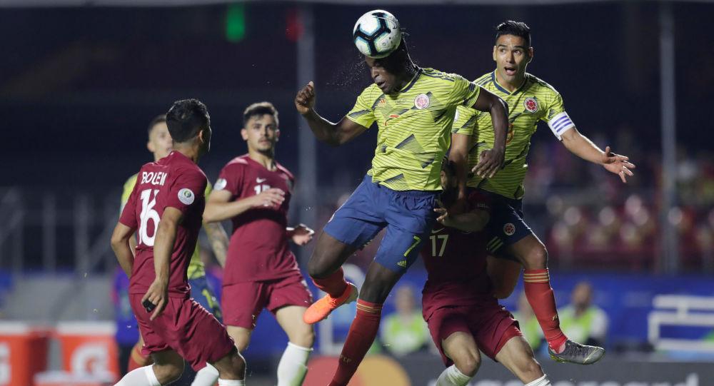 El partido entre Colombia y Catar