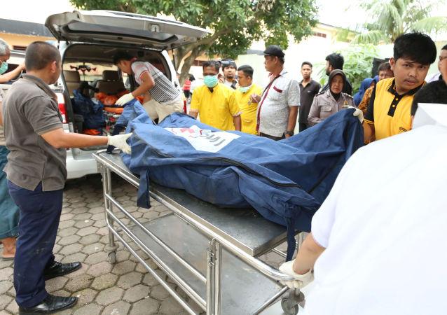 Víctimas del incendio en una fábrica de Indonesia