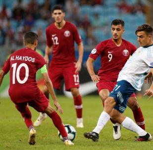 El partido entre Argentina y Catar