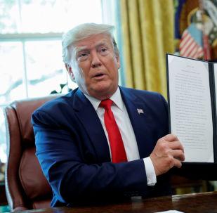 El presidente de EEUU, Donald Trump, anuncia las nuevas sanciones contra Irán