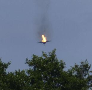 Dos cazas Eurofighter caen a tierra en llamas