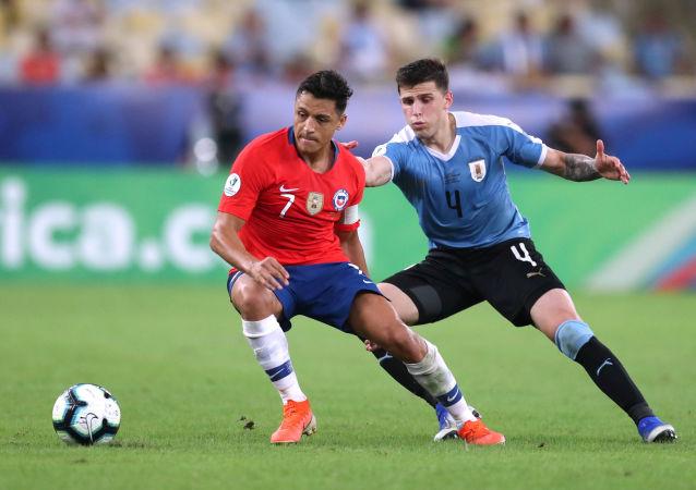El partido entre Chile y Uruguay