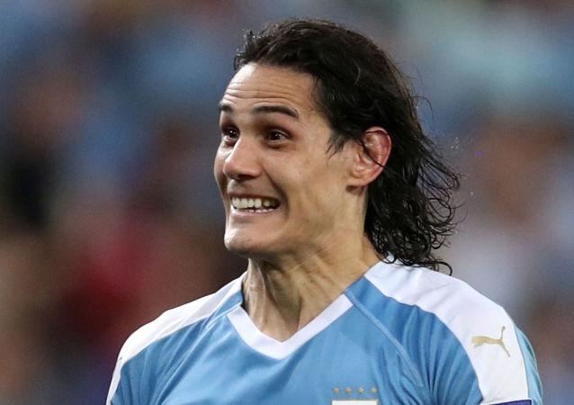 Edinson Cavani, jugador de la selección uruguaya